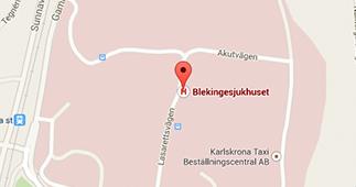 Karta över var SKRS:s postadress hör hemma.