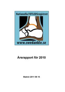 Miniatyrbild av förstasidan på årsrapporten 2010.