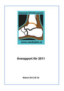 Miniatyrbild av förstasidan på årsrapporten 2011.