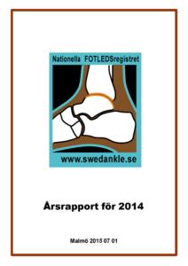 Miniatyrbild av förstasidan på årsrapporten 2014.