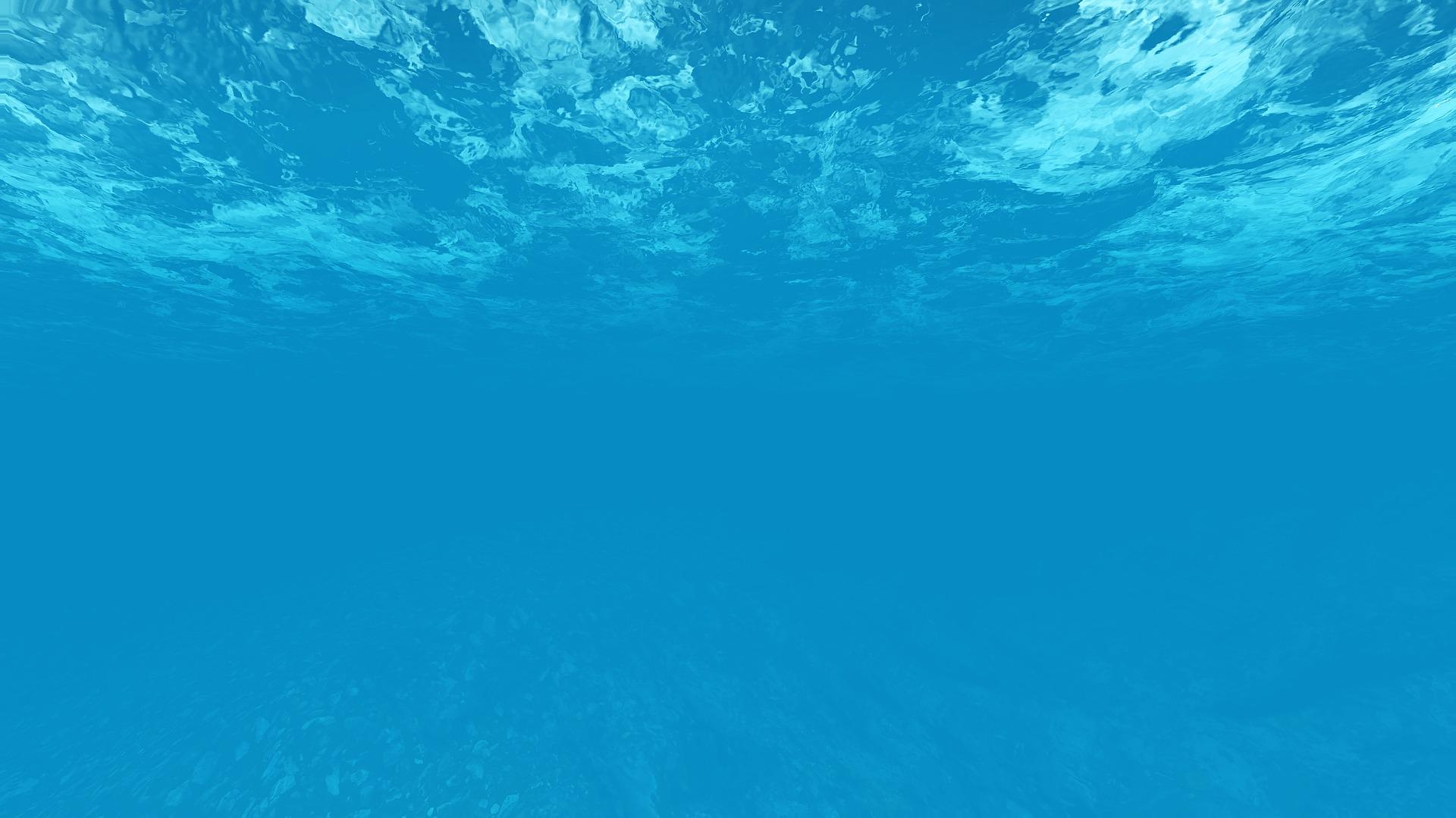Blå bakgrundsbild, hav.
