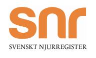 Logotyp för Svenskt Njurregister.