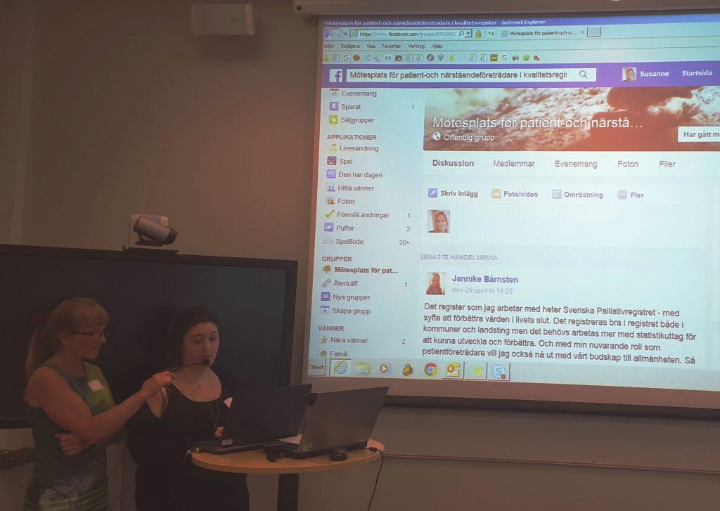 Alexandra Andersson presenterar Facebook-gruppen.