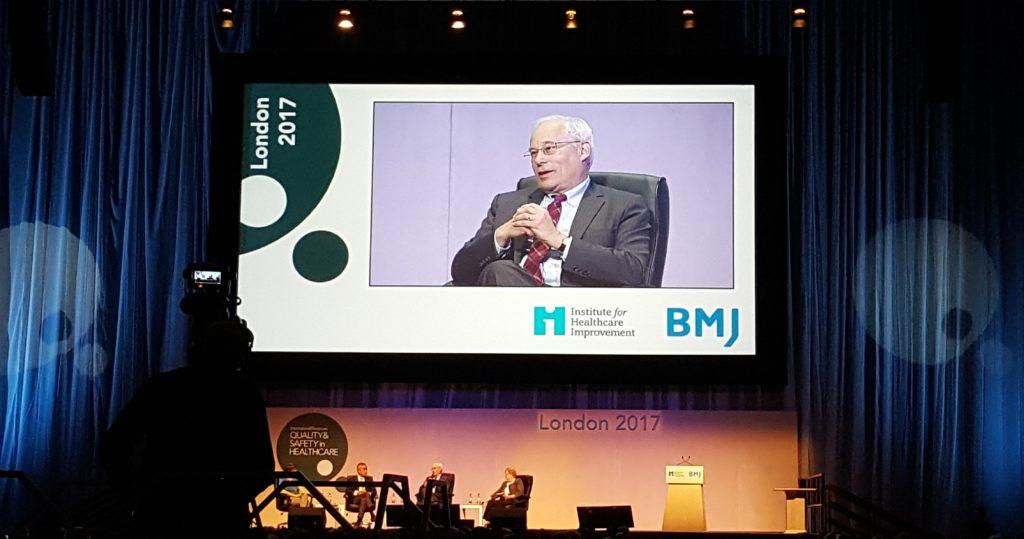Donald Berwick i konferensens inledande diskussion.