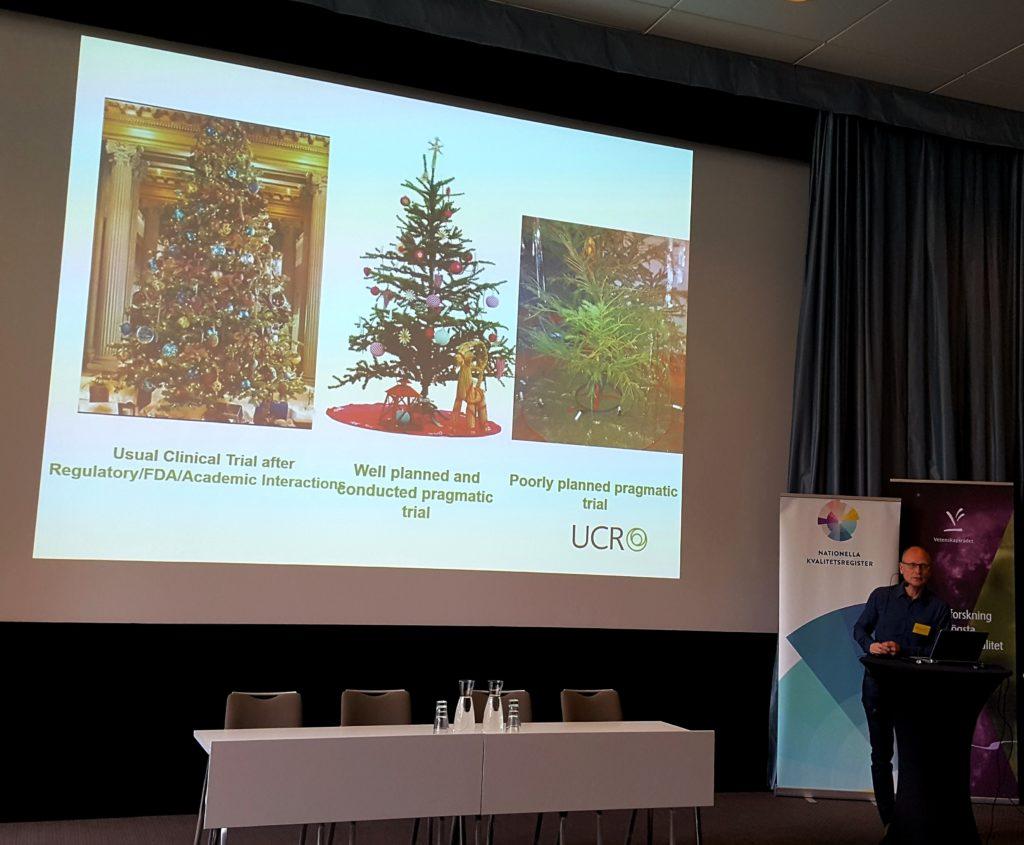 Stefan James från UCR (Uppsala Clinical Research Center) talar om pragmatiska kliniska studier.