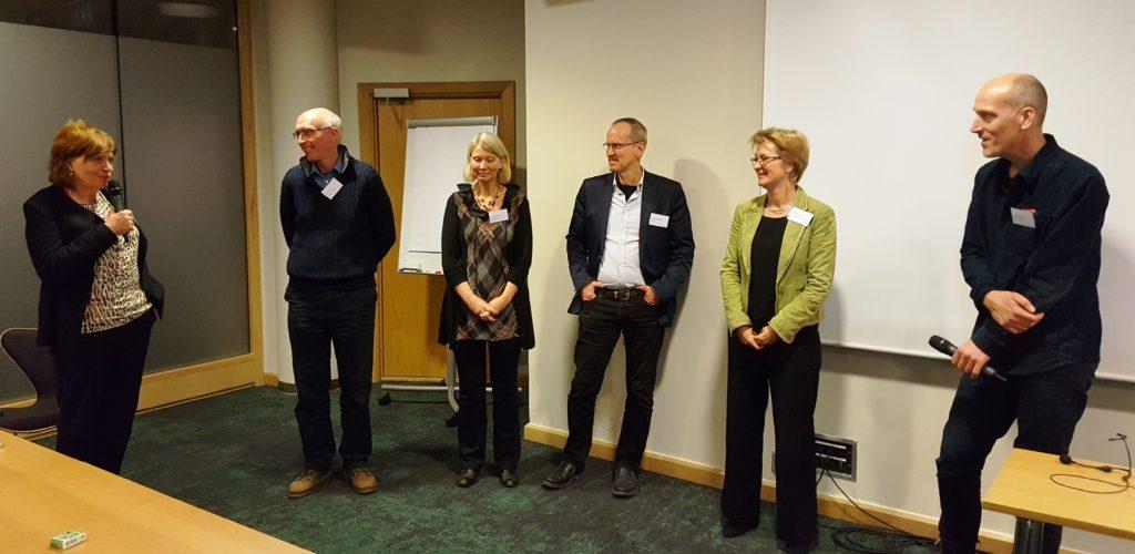 Frågestund med Karin Christensson, John Chaplin, Evalill Nilsson, Gunnar Ekbäck, Caroline Terwee och Hans Lindqvist.