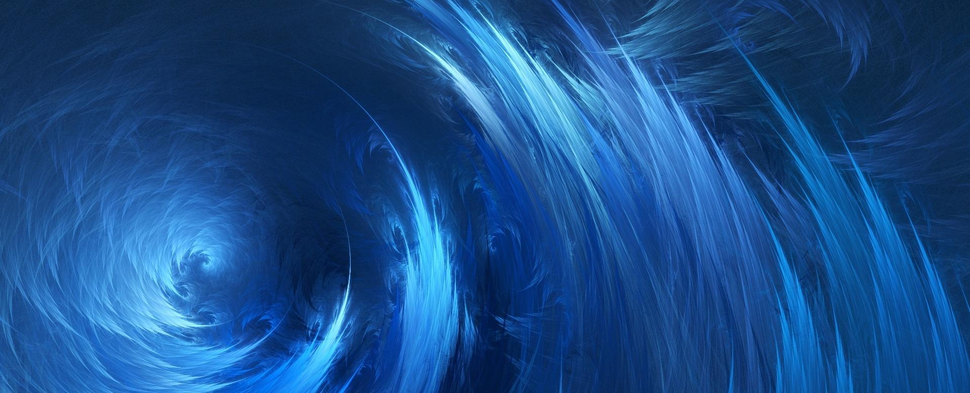 Abstrakta blåa vågor/virvelvind.