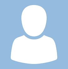 Vit avatar utan speciella drag, tomt ansikte och inget hår. Ljusblå bakgrund.