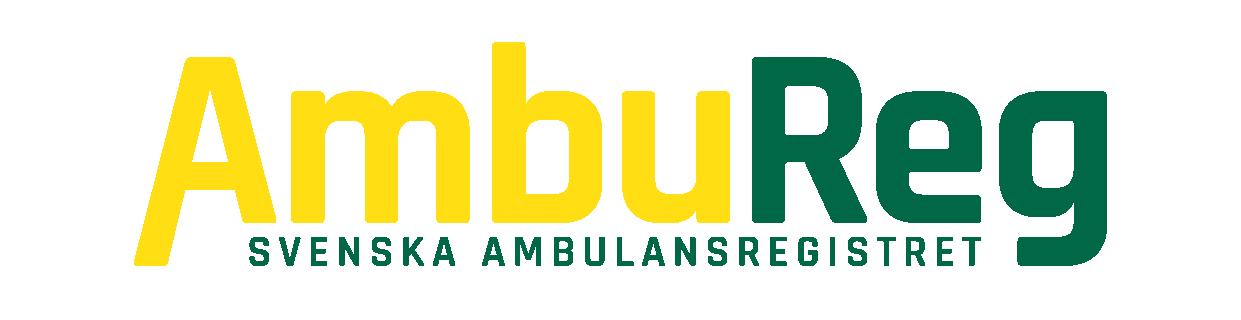 Logotyp för Ambulansregistret.