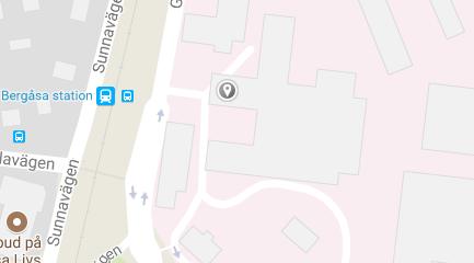 Karta över besöksadress till RC Syds kontor i Karlskrona.