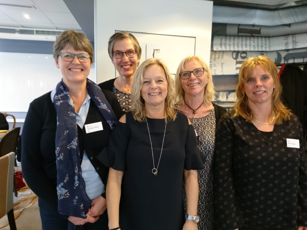 Delar av SKRS:s styrgrupp: Anna-Karin Öhman, Lotta Edman, Susanne Albrecht, Eva Kalén och Annelie Lindberg